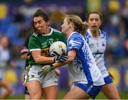 5 May 2019; Sarah Houlihan of Kerry in action against Megan Dunford of Waterford during the Lidl Ladies National Football League Division 2 Final match between Kerry and Waterford at Parnell Park in Dublin. Photo by Ray McManus/Sportsfile