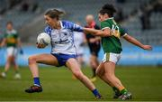 5 May 2019; Karen McGrath of Waterford in action against Miriam O'Keeffe of Kerry during the Lidl Ladies National Football League Division 2 Final match between Kerry and Waterford at Parnell Park in Dublin. Photo by Ray McManus/Sportsfile