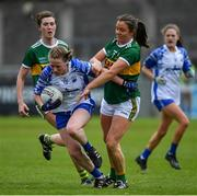 5 May 2019; Rosie Landers of Waterford in action against Anna Galvin of Kerry during the Lidl Ladies National Football League Division 2 Final match between Kerry and Waterford at Parnell Park in Dublin. Photo by Brendan Moran/Sportsfile
