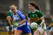 5 May 2019; Sarah Murphy of Kerry in action against Maria Delahunty of Waterford during the Lidl Ladies National Football League Division 2 Final match between Kerry and Waterford at Parnell Park in Dublin. Photo by Brendan Moran/Sportsfile
