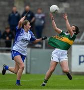 5 May 2019; Fiadhna Tangney of Kerry in action against Rebecca Casey of Waterford during the Lidl Ladies National Football League Division 2 Final match between Kerry and Waterford at Parnell Park in Dublin. Photo by Brendan Moran/Sportsfile