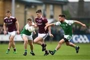5 May 2019; Johnny Heaney of Galway in action against Fearghal McMahon, left, and David Carrabine of London during the Connacht GAA Football Senior Championship Quarter-Final match between London and Galway at McGovern Park in Ruislip, London, England. Photo by Harry Murphy/Sportsfile