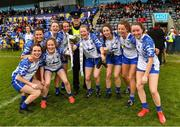 5 May 2019; Garda Jimmy O'Neill, of Clontarf Garda Station, with members of the winning Waterford squad after the Lidl Ladies National Football League Division 2 Final match between Kerry and Waterford at Parnell Park in Dublin. Photo by Ray McManus/Sportsfile
