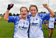 5 May 2019; Shauna Dunphy and Aisling Mullaney of Waterford celebrate after the Lidl Ladies National Football League Division 2 Final match between Kerry and Waterford at Parnell Park in Dublin. Photo by Brendan Moran/Sportsfile