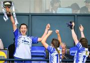 5 May 2019; Waterford captain Karen McGrath and her team-mates celebrate with the Division 2 cup after the Lidl Ladies National Football League Division 2 Final match between Kerry and Waterford at Parnell Park in Dublin. Photo by Brendan Moran/Sportsfile