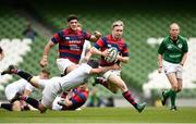 5 May 2019; Angus Llyod of Clontarf is tackled by Duncan Williams of Cork Constitution during the All-Ireland League Division 1 Final match between Cork Constitution and Clontarf at the Aviva Stadium in Dublin. Photo by Oliver McVeigh/Sportsfile