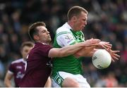 5 May 2019; Liam Gavaghan of London in action against Liam Silke of Galway during the Connacht GAA Football Senior Championship Quarter-Final match between London and Galway at McGovern Park in Ruislip, London, England. Photo by Harry Murphy/Sportsfile