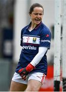 5 May 2019; Cork goalkeeper Martina O'Brien celebrates after saving a penalty from Roisin Leonard of Galway during the Lidl Ladies National Football League Division 1 Final match between Cork and Galway at Parnell Park in Dublin. Photo by Brendan Moran/Sportsfile