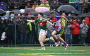 5 May 2019; Fergal Boland of Mayo in action against Matthew Queenan of New York during the Connacht GAA Football Senior Championship Quarter-Final match between New York and Mayo at Gaelic Park in New York, USA. Photo by Piaras Ó Mídheach/Sportsfile