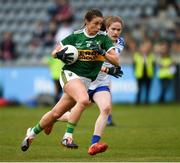 5 May 2019; Amanda Brosnan of Kerry in action against Emma Murray of Waterford during the Lidl Ladies National Football League Division 2 Final match between Kerry and Waterford at Parnell Park in Dublin. Photo by Ray McManus/Sportsfile