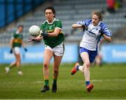 5 May 2019; Aishling O Connell of Kerry in action against Emma Murray of Waterford during the Lidl Ladies National Football League Division 2 Final match between Kerry and Waterford at Parnell Park in Dublin. Photo by Ray McManus/Sportsfile