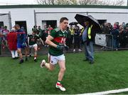 5 May 2019; Lee Keegan of Mayo makes his way onto the pitch for the second half of the Connacht GAA Football Senior Championship Quarter-Final match between New York and Mayo at Gaelic Park in New York, USA. Photo by Piaras Ó Mídheach/Sportsfile