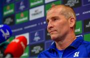 6 May 2019; Senior coach Stuart Lancaster during a Leinster Rugby press conference at Leinster Rugby Headquarters in UCD, Dublin. Photo by Ramsey Cardy/Sportsfile