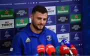 6 May 2019; Robbie Henshaw during a Leinster Rugby Press Conference at Leinster Rugby Headquarters in UCD, Dublin. Photo by Ramsey Cardy/Sportsfile