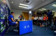 6 May 2019; James Ryan during a Leinster Rugby press conference at Leinster Rugby Headquarters in UCD, Dublin. Photo by Ramsey Cardy/Sportsfile