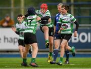 6 May 2019; Action from the Leinster Rugby U13 McGowan Cup Final match between Mullingar and Naas at Energia Park in Dublin. Photo by Eóin Noonan/Sportsfile