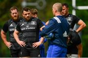 6 May 2019; Senior coach Stuart Lancaster issues instructions to the Leinster team, including Cian Healy and Michael Bent during Leinster Rugby squad training at Rosemount in UCD, Dublin. Photo by Ramsey Cardy/Sportsfile