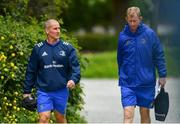 6 May 2019; Senior coach Stuart Lancaster, left, and Head coach Leo Cullen during Leinster Rugby squad training at Rosemount in UCD, Dublin. Photo by Ramsey Cardy/Sportsfile