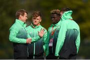 6 May 2019; Republic of Ireland head coach Colin O'Brien speaks to players prior to the 2019 UEFA European Under-17 Championships Group A match between Republic of Ireland and Czech Republic at the Regional Sports Centre in Waterford. Photo by Stephen McCarthy/Sportsfile