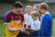7 May 2019; Monaghan footballer Rory Beggan with schoolkids from St Mary's National School during the Cúl Heroes Trading Cards 2019 Collection Launch at St Mary's National School in Fairview, Dublin. Photo by David Fitzgerald/Sportsfile