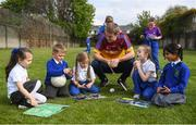 7 May 2019; Tipperary hurler Noel McGrath with schoolkids from St Mary's National School during the Cúl Heroes Trading Cards 2019 Collection Launch at St Mary's National School in Fairview, Dublin. Photo by David Fitzgerald/Sportsfile