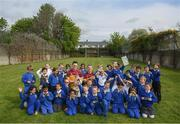 7 May 2019; Tipperary hurler Noel McGrath and Monaghan footballer Rory Beggan with schoolkids from St Mary's National School during the Cúl Heroes Trading Cards 2019 Collection Launch at St Mary's National School in Fairview, Dublin. Photo by David Fitzgerald/Sportsfile