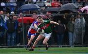 5 May 2019; Darren Coen of Mayo in action against Michael Creegan of New York during the Connacht GAA Football Senior Championship Quarter-Final match between New York and Mayo at Gaelic Park in New York, USA. Photo by Piaras Ó Mídheach/Sportsfile