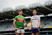 9 May 2019; Cathal Freeman of Mayo and Fergal Rafter of Monaghan who will compete in the Nicky Rackard Cup in attendance at the official launch of Joe McDonagh, Christy Ring, Nicky Rackard and Lory Meagher Competitions at Croke Park in Dublin. Photo by Stephen McCarthy/Sportsfile
