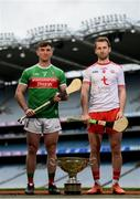 9 May 2019; Cathal Freeman of Mayo and Dermot Begley of Tyrone who will compete in the Nicky Rackard Cup in attendance at the official launch of Joe McDonagh, Christy Ring, Nicky Rackard and Lory Meagher Competitions at Croke Park in Dublin. Photo by Stephen McCarthy/Sportsfile