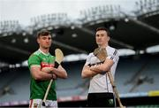 9 May 2019; Cathal Freeman of Mayo and Robert Curley of Warwickshire who will compete in the Nicky Rackard Cup in attendance at the official launch of Joe McDonagh, Christy Ring, Nicky Rackard and Lory Meagher Competitions at Croke Park in Dublin. Photo by Stephen McCarthy/Sportsfile