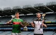 9 May 2019; Cathal Freeman of Mayo and Gary Cadden of Sligo who will compete in the Nicky Rackard Cup in attendance at the official launch of Joe McDonagh, Christy Ring, Nicky Rackard and Lory Meagher Competitions at Croke Park in Dublin. Photo by Stephen McCarthy/Sportsfile