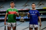 9 May 2019; Cathal Freeman of Mayo and Paddy Corcoran   of Longford who will compete in the Nicky Rackard Cup in attendance at the official launch of Joe McDonagh, Christy Ring, Nicky Rackard and Lory Meagher Competitions at Croke Park in Dublin. Photo by Stephen McCarthy/Sportsfile