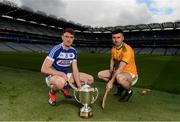 9 May 2019; Joe McDonagh Cup hurlers Paddy Purcell of Laois and Martin Stackpoole of Kerry in attendance at the official launch of Joe McDonagh, Christy Ring, Nicky Rackard and Lory Meagher Competitions at Croke Park in Dublin. Photo by Eóin Noonan/Sportsfile