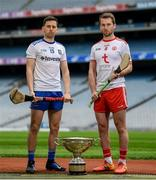 9 May 2019; Fergal Rafter of Monaghan and Dermot Begley of Tyrone who will compete in the Nicky Rackard Cup in attendance at the official launch of Joe McDonagh, Christy Ring, Nicky Rackard and Lory Meagher Competitions at Croke Park in Dublin. Photo by Stephen McCarthy/Sportsfile