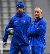 10 May 2019; Leinster head coach Leo Cullen, left, and senior coach Stuart Lancaster during the Leinster team captain's run at St James' Park in Newcastle Upon Tyne, England. Photo by Ramsey Cardy/Sportsfile