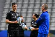 10 May 2019; Jonathan Sexton, left, and senior coach Stuart Lancaster during the Leinster team captain's run at St James' Park in Newcastle Upon Tyne, England. Photo by Ramsey Cardy/Sportsfile