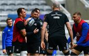 10 May 2019; Rhys Ruddock, left, and Rob Kearney during the Leinster team captain's run at St James' Park in Newcastle Upon Tyne, England. Photo by Ramsey Cardy/Sportsfile