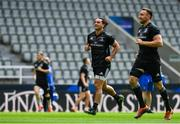 10 May 2019; James Lowe, left, and Jack Conan during the Leinster team captain's run at St James' Park in Newcastle Upon Tyne, England. Photo by Ramsey Cardy/Sportsfile