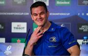 10 May 2019; Jonathan Sexton during a Leinster press conference at St James' Park in Newcastle Upon Tyne, England.  Photo by Ramsey Cardy/Sportsfile