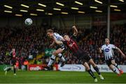 10 May 2019; Georgie Kelly of Dundalk in action against James Finnerty of Bohemians during the SSE Airtricity League Premier Division match between Bohemians and Dundalk at Dalymount Park in Dublin. Photo by Stephen McCarthy/Sportsfile