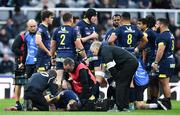 10 May 2019; Morgan Parra of ASM Clermont Auvergne goes down with an injury before being taken off during the Heineken Challenge Cup Final match between ASM Clermont Auvergne and La Rochelle at St James' Park in Newcastle Upon Tyne, England. Photo by Brendan Moran/Sportsfile