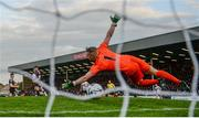 10 May 2019; Georgie Kelly of Dundalk shoots to score his side's first goal past Bohemians goalkeeper James Talbot during the SSE Airtricity League Premier Division match between Bohemians and Dundalk at Dalymount Park in Dublin. Photo by Stephen McCarthy/Sportsfile