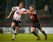 10 May 2019; Conor Levingston of Bohemians in action against Georgie Kelly of Dundalk = during the SSE Airtricity League Premier Division match between Bohemians and Dundalk at Dalymount Park in Dublin. Photo by Stephen McCarthy/Sportsfile