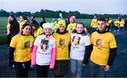 11 May 2019; Thousands of people across 202 locations worldwide walked together in hope against suicide at this year's Darkness Into Light, proudly supported by Electric Ireland, raising vital funds to ensure Pieta can continue to provide critical support in the fight against suicide. Aine Sheil, Jorja Griffin, Kail King, Catherine Griffin and Aaron Shields, from Ballyfermot, at the Darkness Into Light event in the Phoenix Park in Dublin. Photo by Ray McManus/Sportsfile