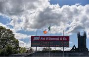 11 May 2019; A general view of the scoreboard at Cusack Park ahead of the TG4  Munster Ladies Football Senior Championship match between Kerry and Waterford at Cusack Park in Ennis, Clare. Photo by Sam Barnes/Sportsfile