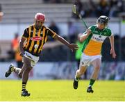 11 May 2019; Zach Bay Hammond of Kilkenny in action against Joe Hoctor of Offaly during Electric Ireland Leinster GAA Hurling Minor Championship Round 3 match between Kilkenny and Offaly at Nowlan Park in Kilkenny. Photo by Stephen McCarthy/Sportsfile