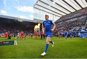 11 May 2019; Garry Ringrose of Leinster runs out ahead of the Heineken Champions Cup Final match between Leinster and Saracens at St James' Park in Newcastle Upon Tyne, England. Photo by Ramsey Cardy/Sportsfile