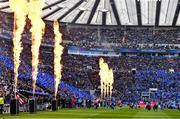 11 May 2019; The teams make their way onto the pitch prior to the Heineken Champions Cup Final match between Leinster and Saracens at St James' Park in Newcastle Upon Tyne, England. Photo by Brendan Moran/Sportsfile