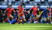 11 May 2019; Alex Lozowski of Saracens is tackled by Seán O'Brien, left, and Robbie Henshaw of Leinster during the Heineken Champions Cup Final match between Leinster and Saracens at St James' Park in Newcastle Upon Tyne, England. Photo by David Fitzgerald/Sportsfile