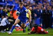 11 May 2019; Garry Ringrose of Leinster in action against Maro Itoje of Saracens during the Heineken Champions Cup Final match between Leinster and Saracens at St James' Park in Newcastle Upon Tyne, England. Photo by Ramsey Cardy/Sportsfile